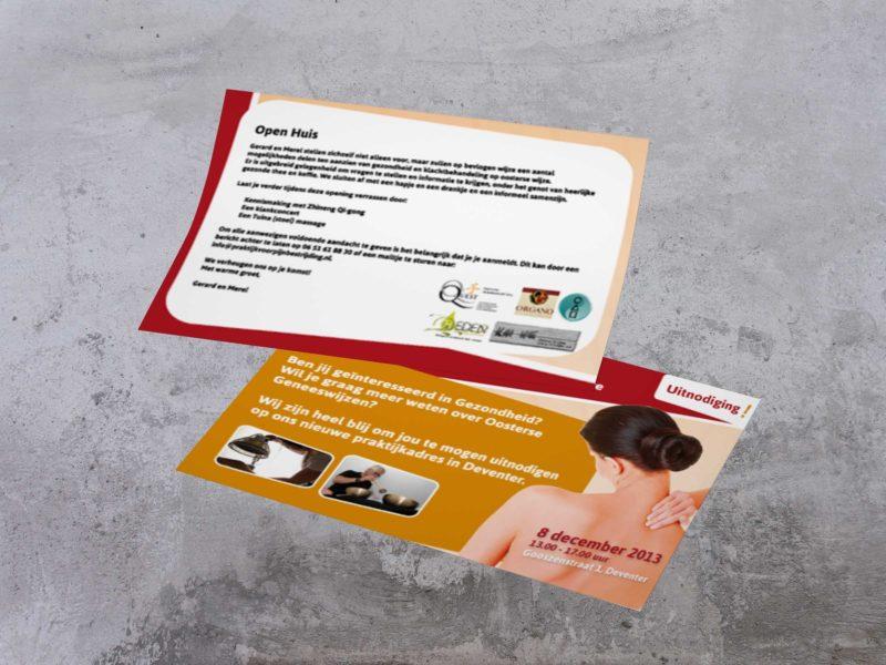 flyer ontwerp deventer, Klanktherapie en accupunture