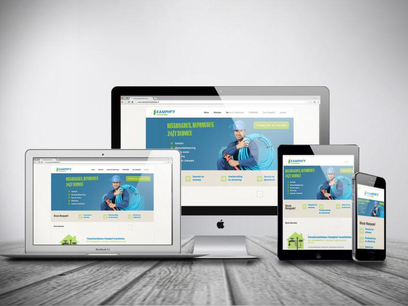 WordPress Website, Kamphof instalaties