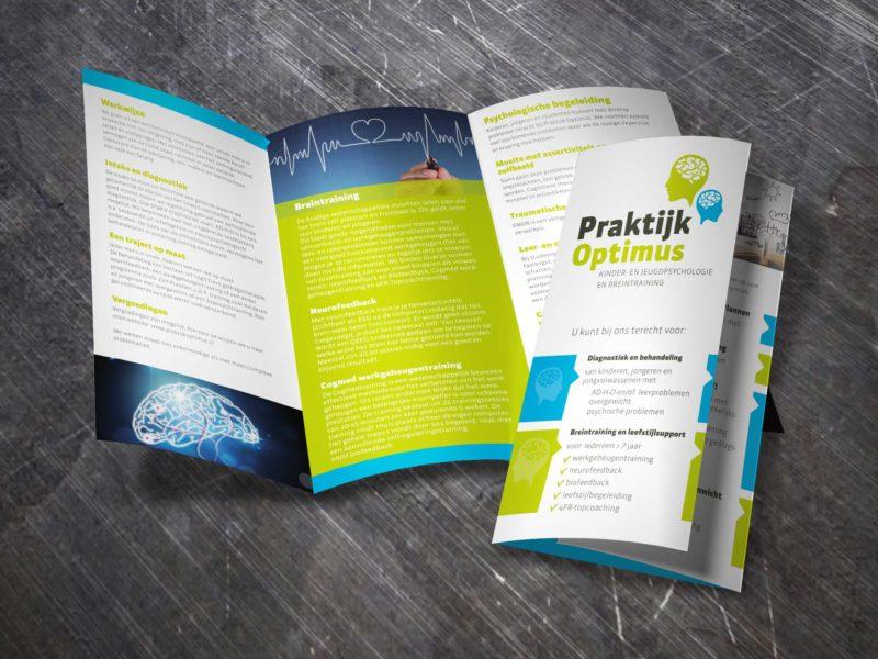 folder ontwerp, Praktijk optimus, Deventer