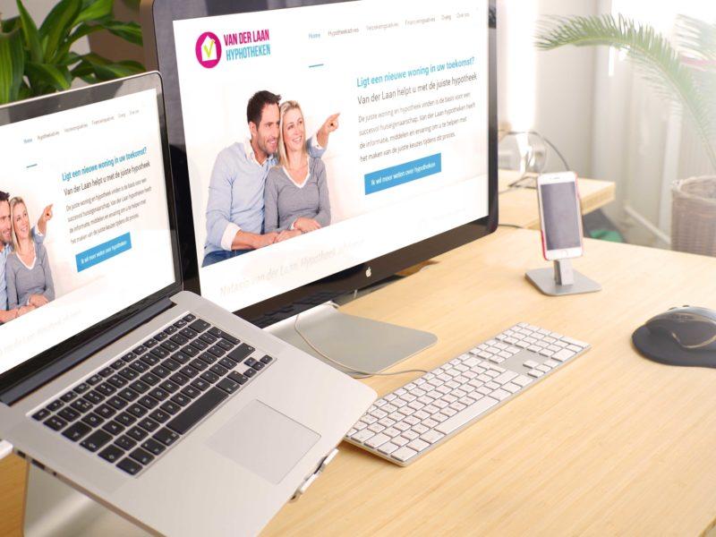 WordPress website, Van der Laan Hypotheken